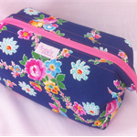 Navy Floral - Retreat Bag - Toiletries / Make-up / Toys / Craft / Pencil Case