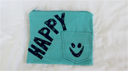 Funky Jeans Pencil Case - Happy