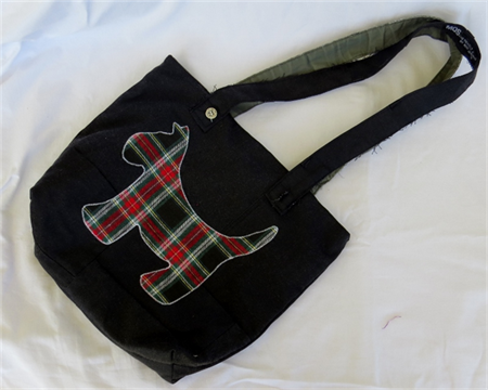 Scotty Dog Upcycled Tote