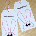 Set 6 Easter gift tags - pink bunny
