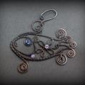 Handmade fish pendant, Wire Wrap Copper Pendant