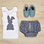 Easter Rabbit - Singlet & Bloomers Set Grey