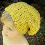 FREE SHIPPING - Beanies for Children - The Olsen Slouchy Beanie in Citrine