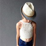FREE SHIPPING -Knitwear for Children -Dear Clementine Singlet top