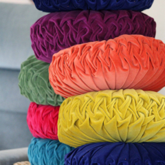 COLOUR SWATCHES - Vintage Style Round Cushions