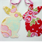 Bunny Garland, Easter, Baby Shower Bunting, pink tape, double sided fabric