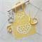Kids Apron Sweet Apples - lined kitchen/craft/play with pocket - yellow apples