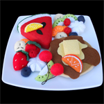 FELT FOOD FRUIT SALAD PIKELET  / PANCAKE