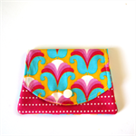 Find a Penny Purse - Yellow, Pink & Blue Retro Flowers & Polka Dots