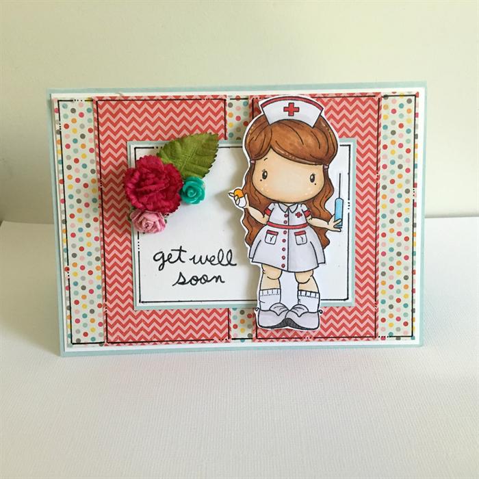 get well soon card  nurse get well  feel better