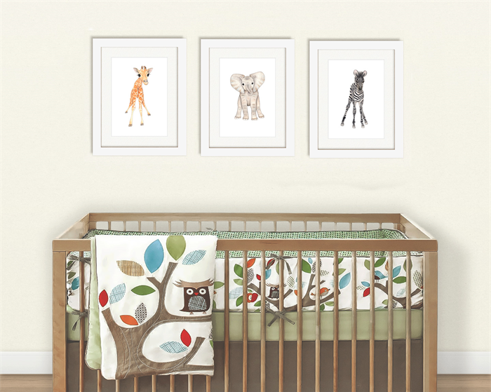 Baby African Animals Set Of 3 A5