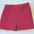 Red polka dot cotton shorts.  Size 1/2. With back pocket. Ready to go☺