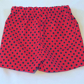 Red polka dot cotton shorts.