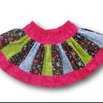 SIZE 4 Black Roses Twirl Skirt