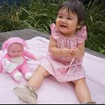 Pink Bunnies Flutter Sleeve Dress