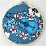 Blue Guitar - hoop art