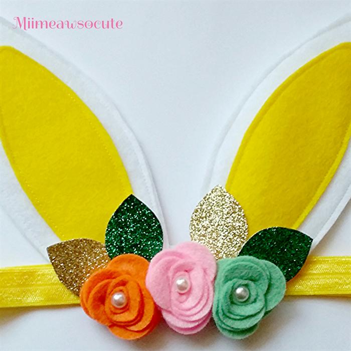 how to make easter bunny ears headband