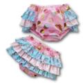 SIZE 0 - Cupcakes Ruffle Bum Panties