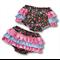 SIZE 0 - Black Roses Ruffle Bum Panties