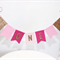 Cake Bunting/Cake Topper/Cake Banner. String of Pennants/Flags. One. Pink Ombré.