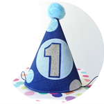 Baby Boy's Fun First Birthday Party Hat . Cake Smash Photo Shoot