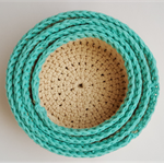 Set of 4 nesting baskets in cotton...free postage