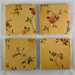 Flower tile coasters