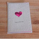 Handmade Australian Embossed Mother's Day Card.