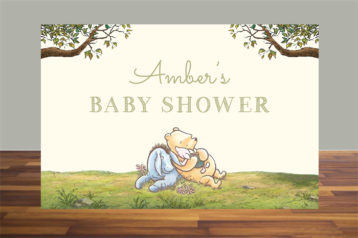 picture relating to Printable Backdrop referred to as Printable Backdrop Winnie the Pooh, Clic Winnie the Pooh
