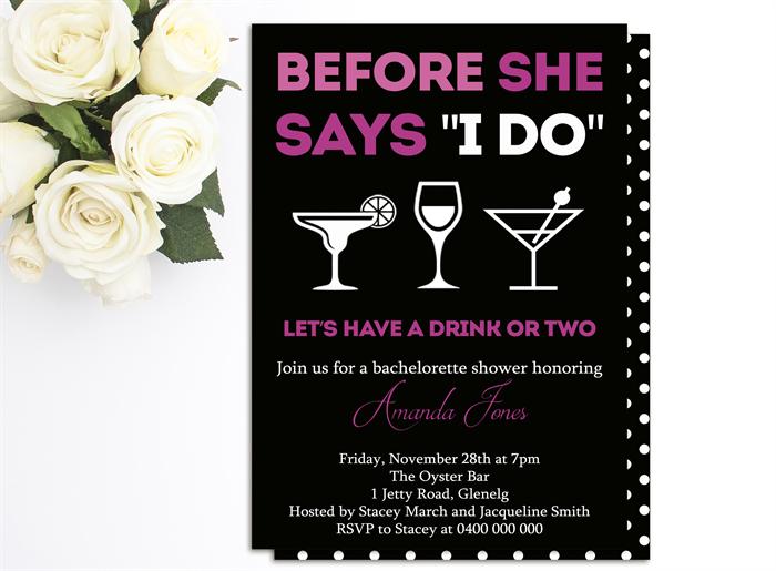Bachelorette / Hens Night Printable Invitation