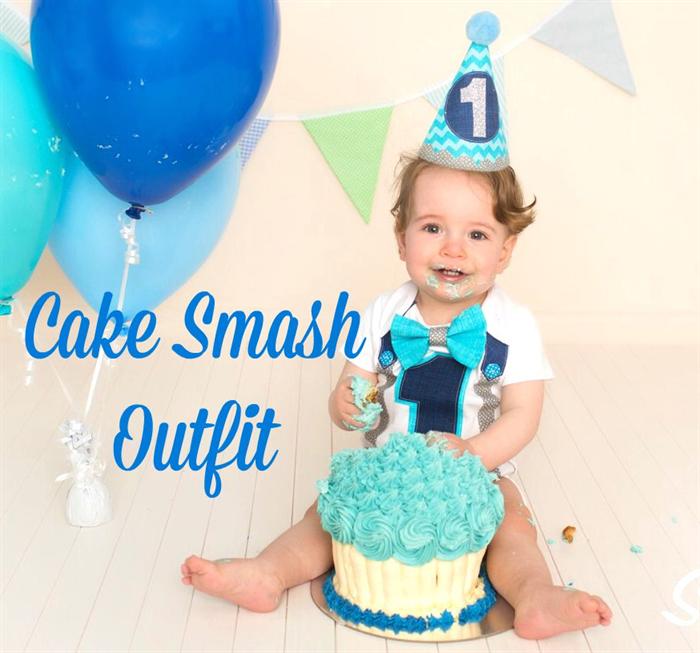 Cake Smash Photo Shoot Baby Boys Fun First Birthday Party Hat