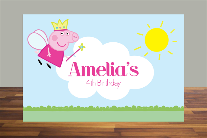 graphic relating to Printable Backdrop referred to as Printable Backdrop Peppa Pig, Fairy Peppa Pig, Peppa Pig