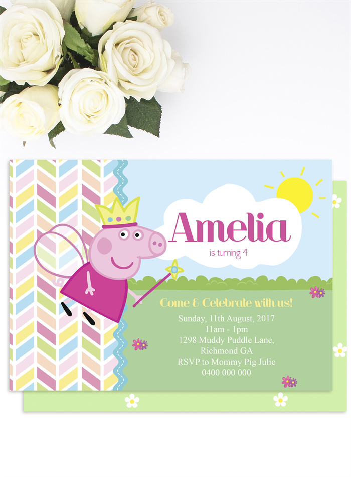 Printable Peppa Pig Party Pack, Peppa Pig Invitation, Banner, Treat ...