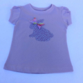 Easter bunny applique lilac & mint spot on lilac  t-shirt - size 2