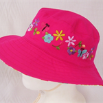 Toddler Hat ~ Embroidered ~ 53cm - Wide Brim