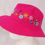 Toddler Hat ~ Embroidered ~ 53cm - Wide Brim