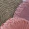 Peach Pink Velvet Vintage Style round cushion-FREE POST
