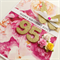 Happy Birthday gold glitter numbers any age roses her sister mum friend card
