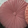 Dusty Pink Velvet Vintage Style round cushion