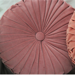 Dusty Pink Velvet Vintage Style round cushion-FREE POST