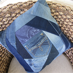 Denim Jeans Cushion including Insert