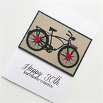 Happy birthday card custom make bike buttons black kraft him her friend brother