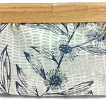 Organic Cotton Hemp Clutch - Australian Flora - Screen Printed - Timber Handles