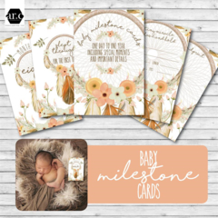 Baby Milestone Cards - Dreamcatcher