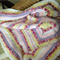 Shades of Pink, Lilac, Yellow and White Multi-textured Crochet Blanket/throw