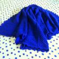 Royal Blue Crochet Blanket Throw Blanket