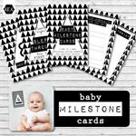 Baby Milestone Cards - Monochrome