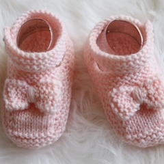 Hand Knitted Mary Jane Shoes | Made to Order |   Custom Colour | NB to 12M
