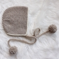 Hand knitted Vintage Bonnet | NB-36M | Made to Order | Custom Colour Choice