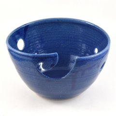 CUSTOM LISTING FOR KATRINA:  Dark Blue Ceramic Yarn Bowl